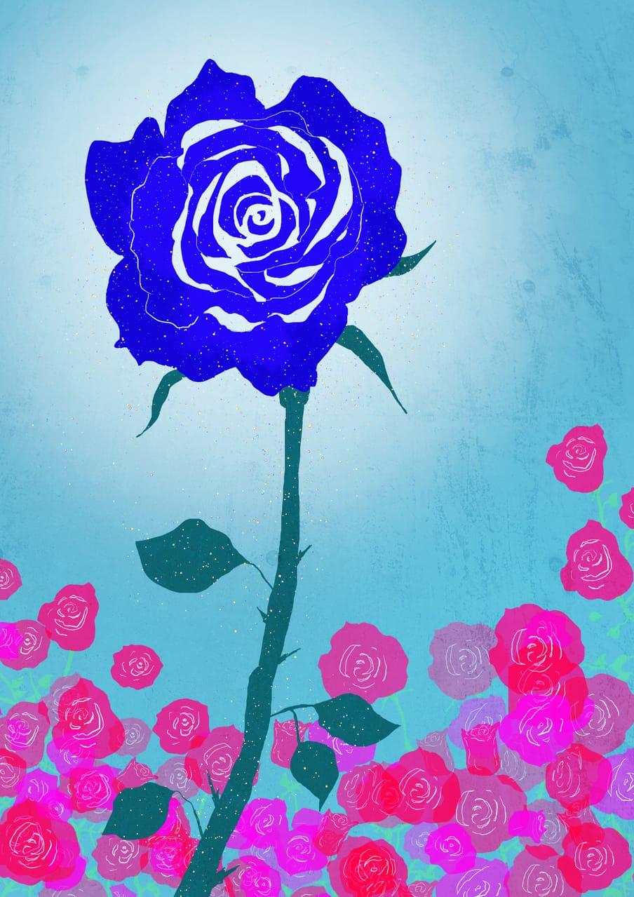 奇跡のバラ Illust of ユニナ blue レッツワンドロ