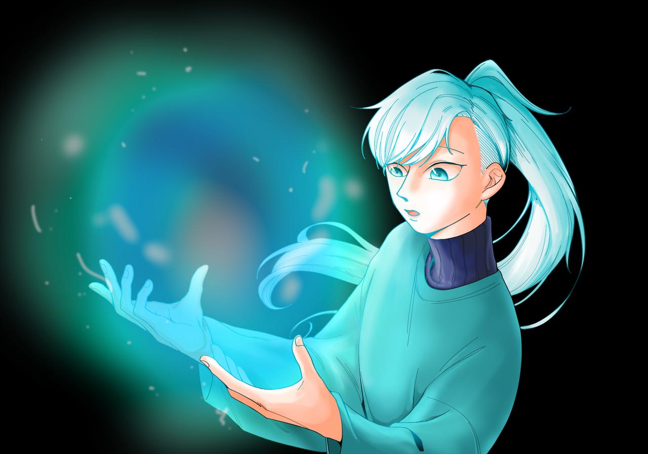 반짝이는 작은 우주 Illust of 이븐 빛 illustration 유테 medibangpaint