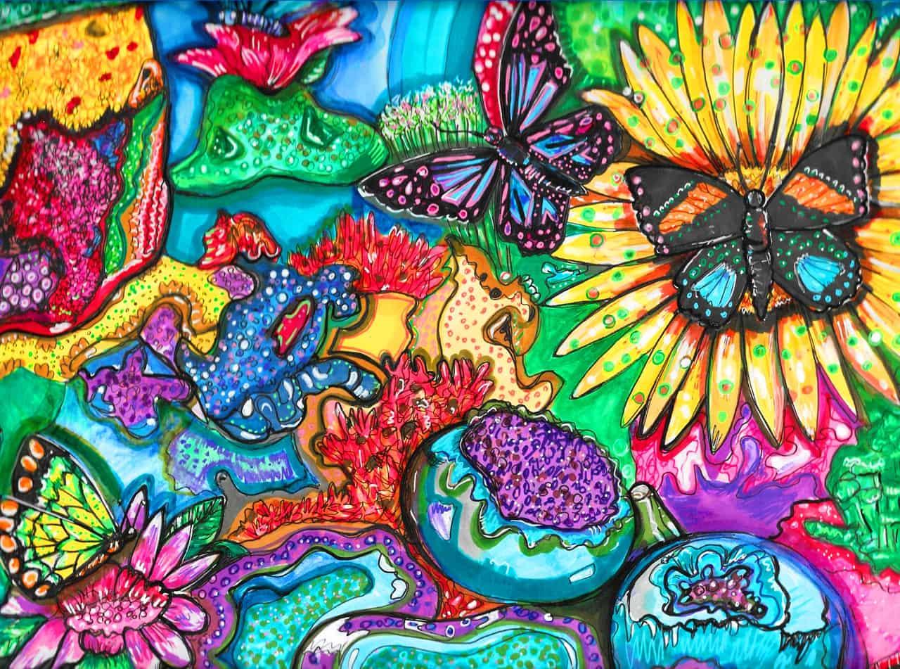 flowers underwater
