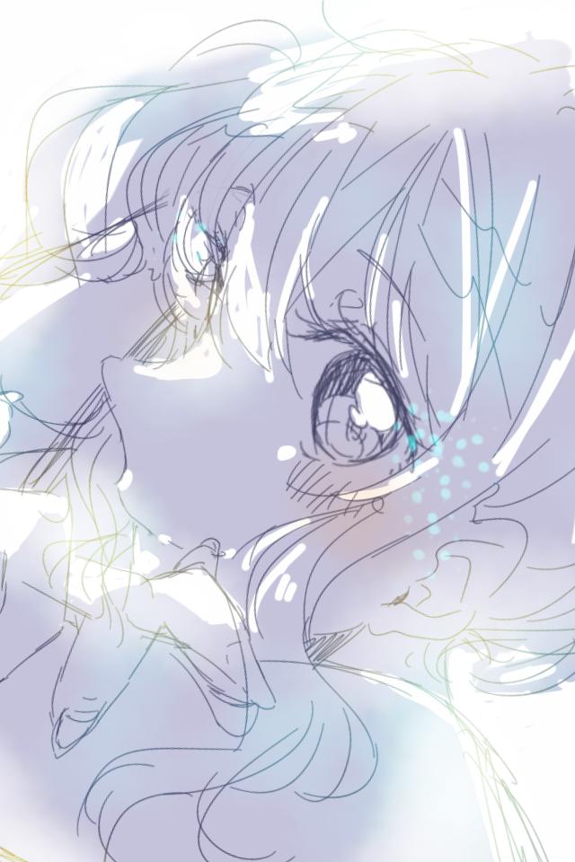 らくがきまとめ Illust of 星野 ゆか@再浮上 doodle アネモネ(青) girl カラーラフ flower starry_sky uniform オオイヌノフグリ sailor_uniform original