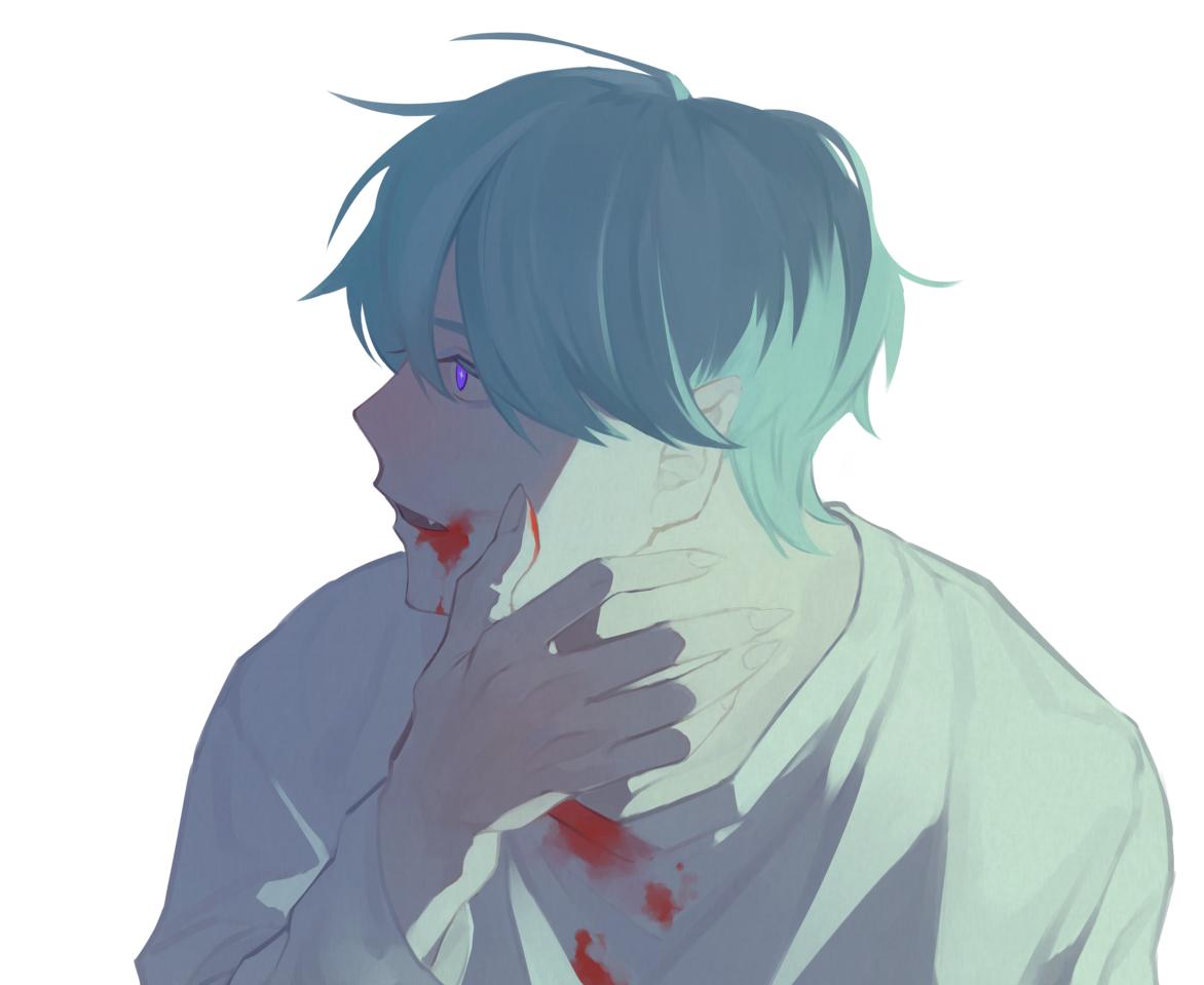 吸血鬼になった日 Illust of ひじろ boy impasto blood original vampire