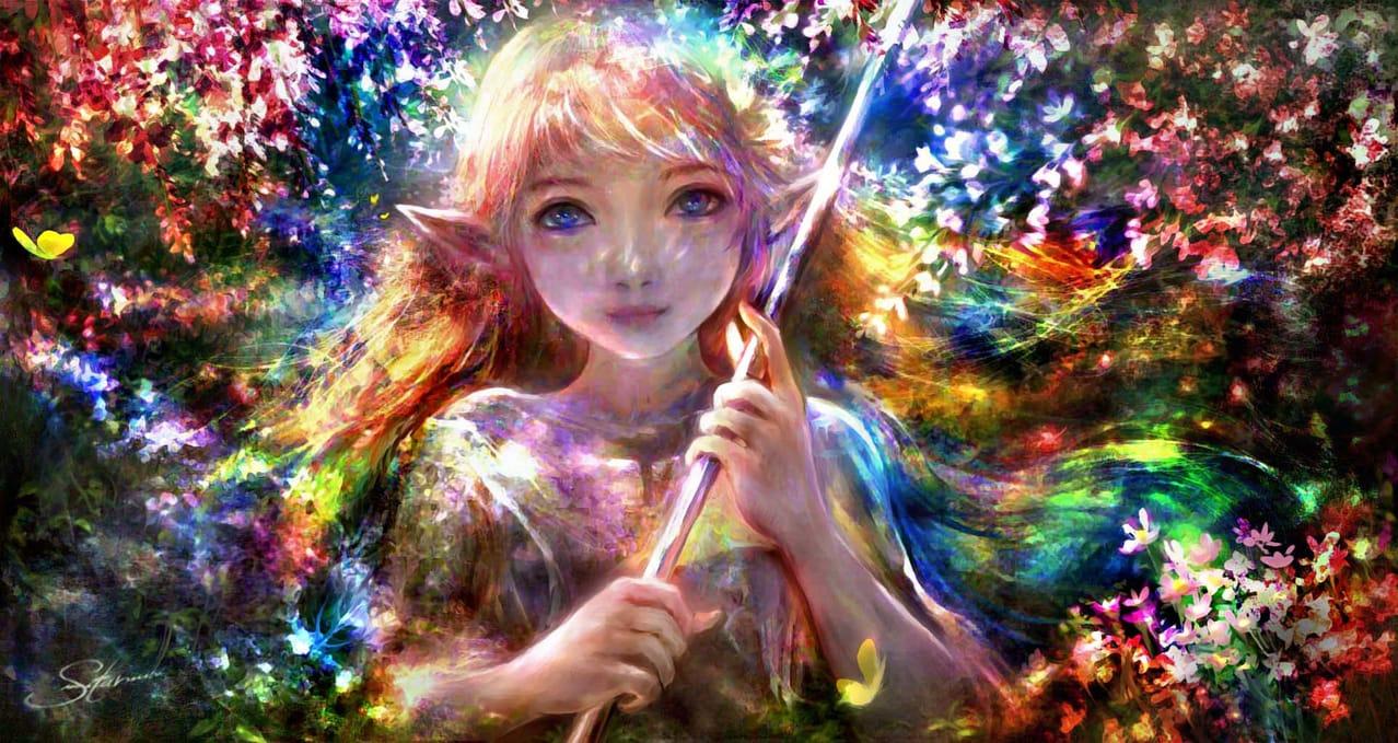 春之印象-春風又吟唱起生命的歌謠 Illust of 晴夜星子 第一屆繪王盃角色創作大賽 MySecretSocietyContest February2021_Fantasy March2021_Creature 春 0.0