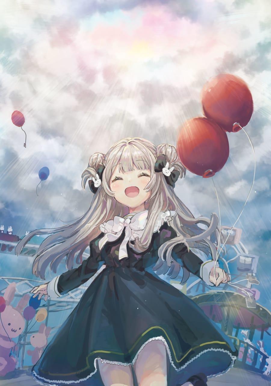 夢 Illust of もぐらもぐもぐ Balloon girl 遊園地 original