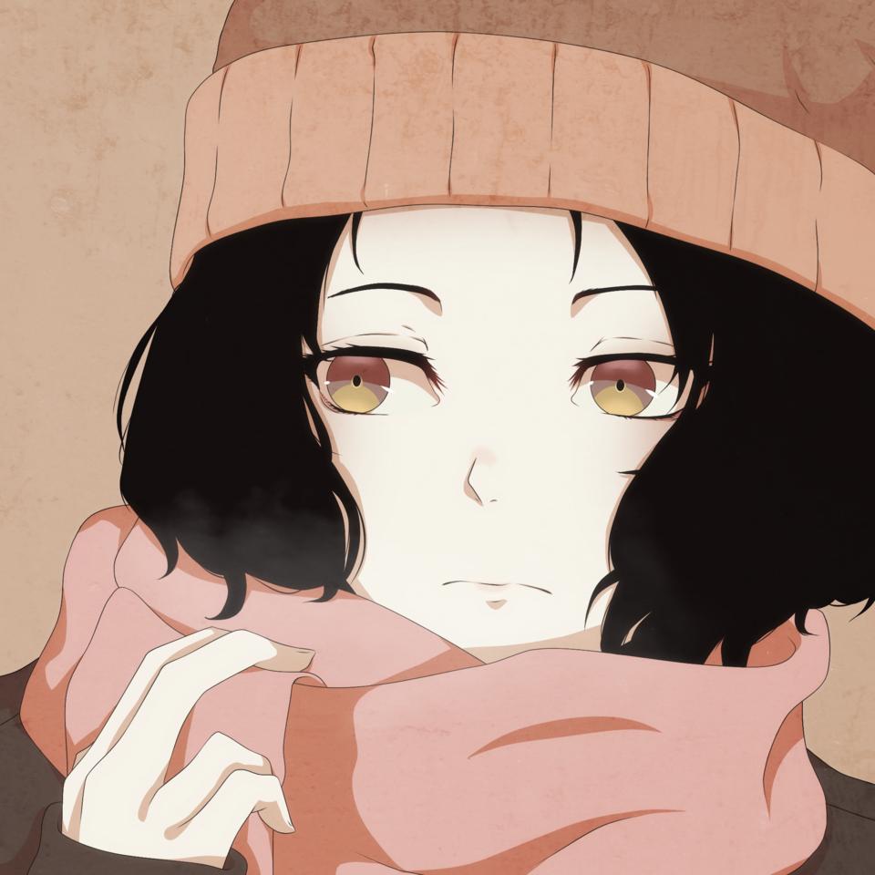 Winter Illust of Novitalemmon medibangpaint girl kuronumajun kuronuma shorthair original boycut novitalemmon jun