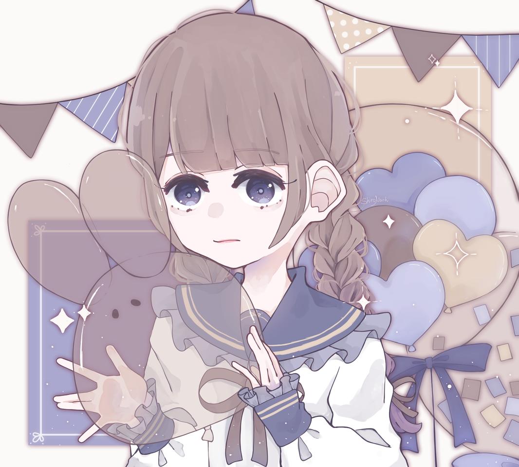 ✧*.+゚ Illust of しろなち illustration girl sailor_uniform original blue medibangpaint