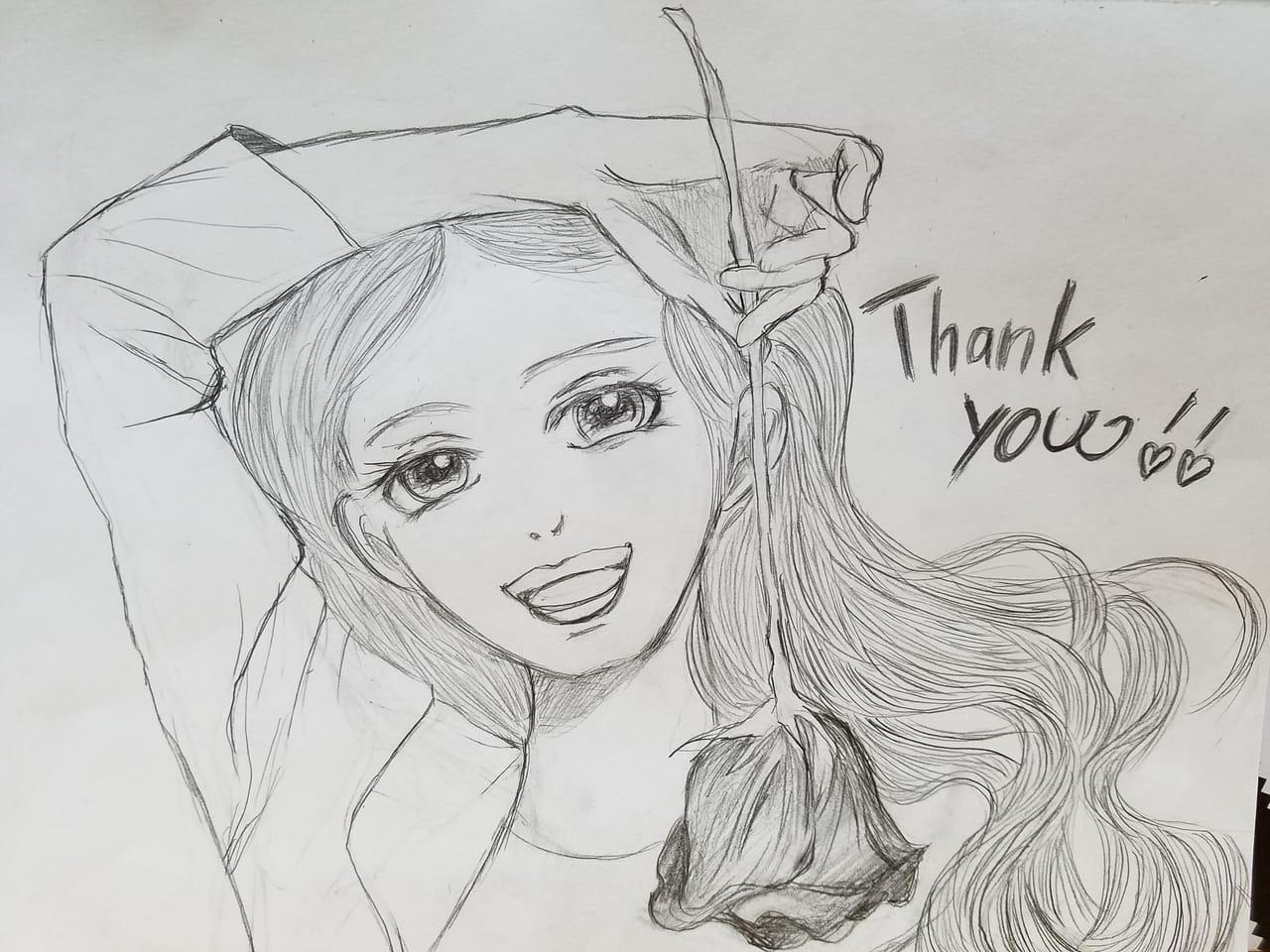フォロワーさまへ(*^^*) Illust of おかかうめ sketch 鉛筆 line_art girl original