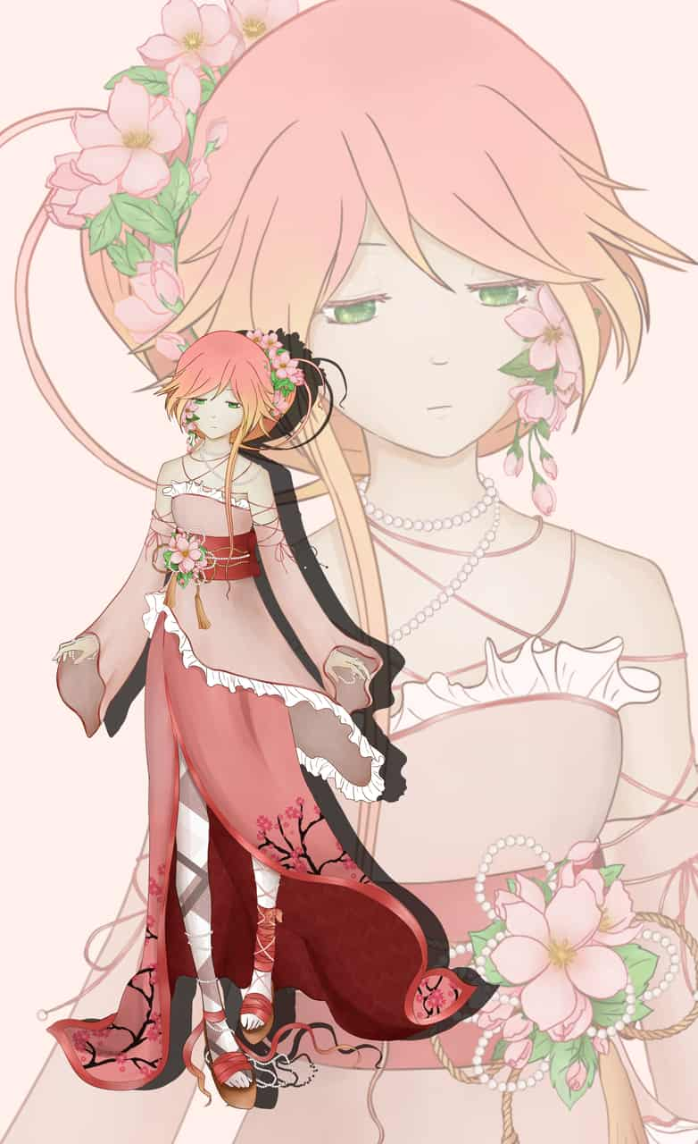 Cherry blossoms and pearls :)