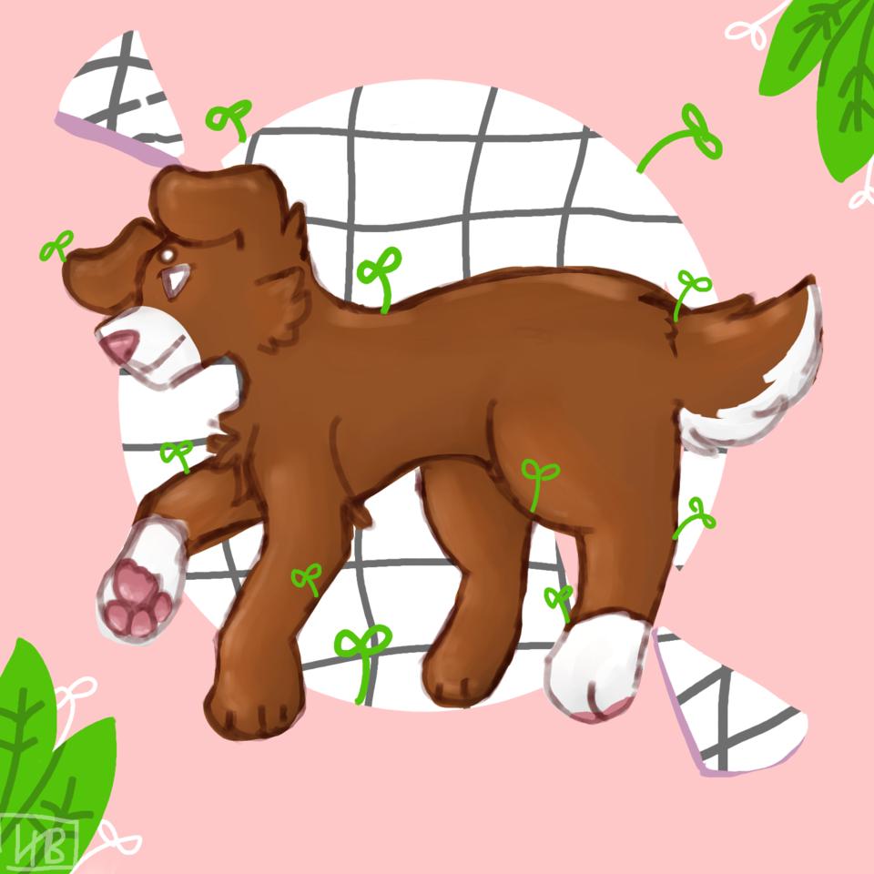Puppy dowg ✨ Illust of hxneybun digital dog medibang cute practice