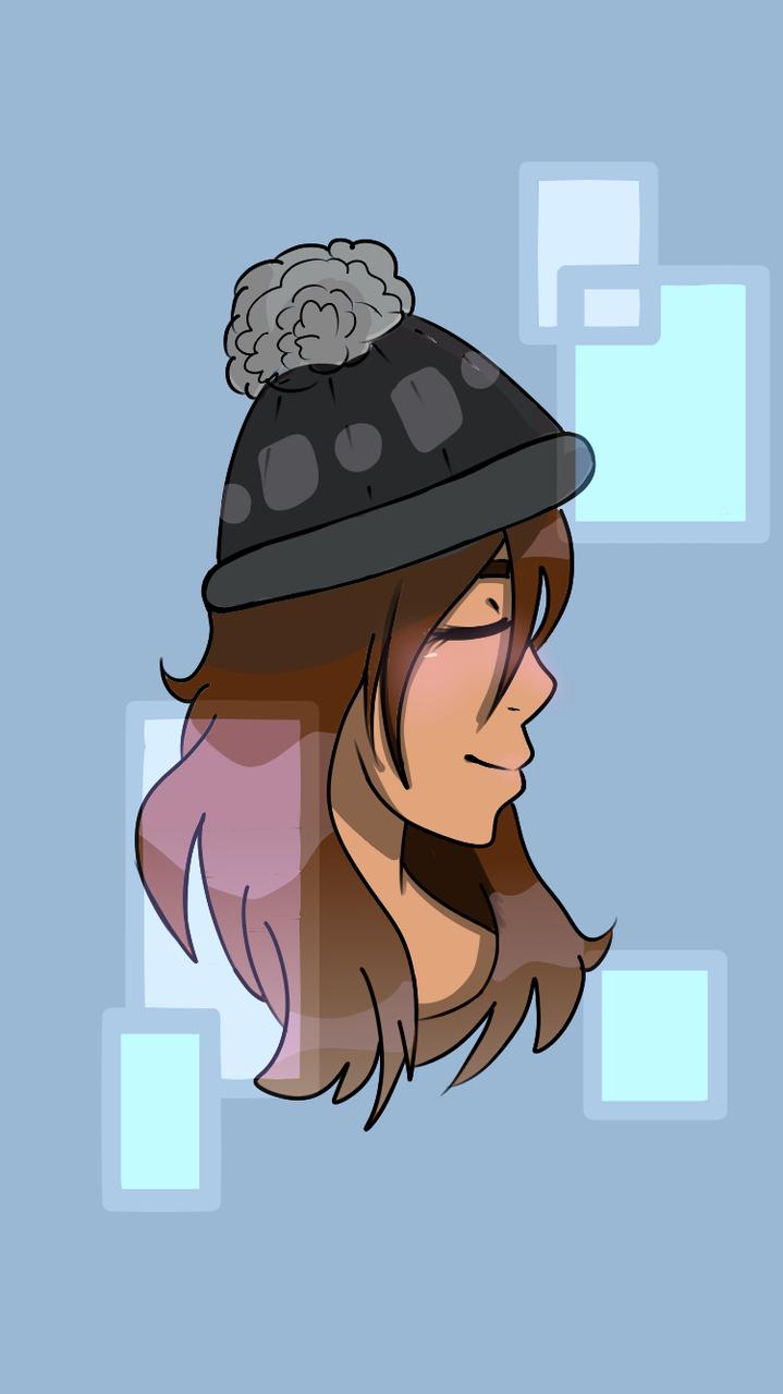 Cold  Illust of Paper medibangpaint Hat girl
