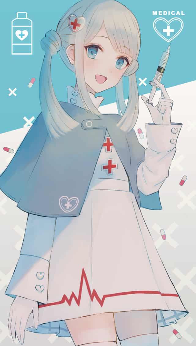 💉 Illust of もふ original girl ナース blue oc