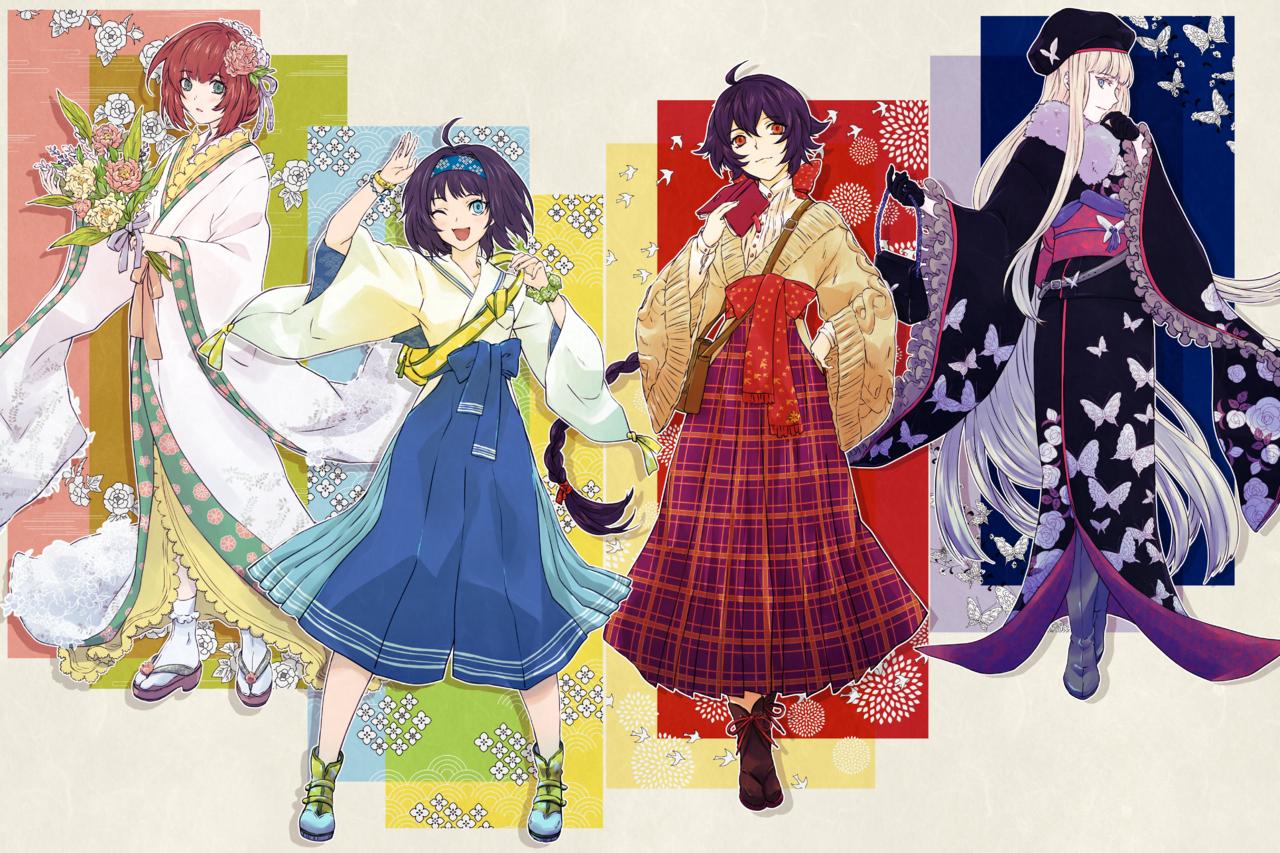 キモノ・カルテット Illust of スミノス Kyoto_Award2020_illustration original Japanese_style girl