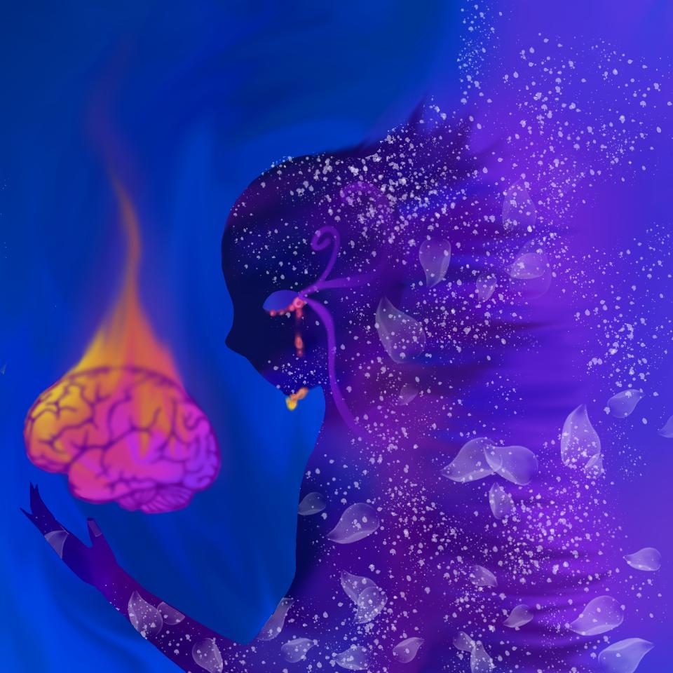 Galactic brain Illust of Quinn M. August2020_Contest:Horror tears space brain galaxy