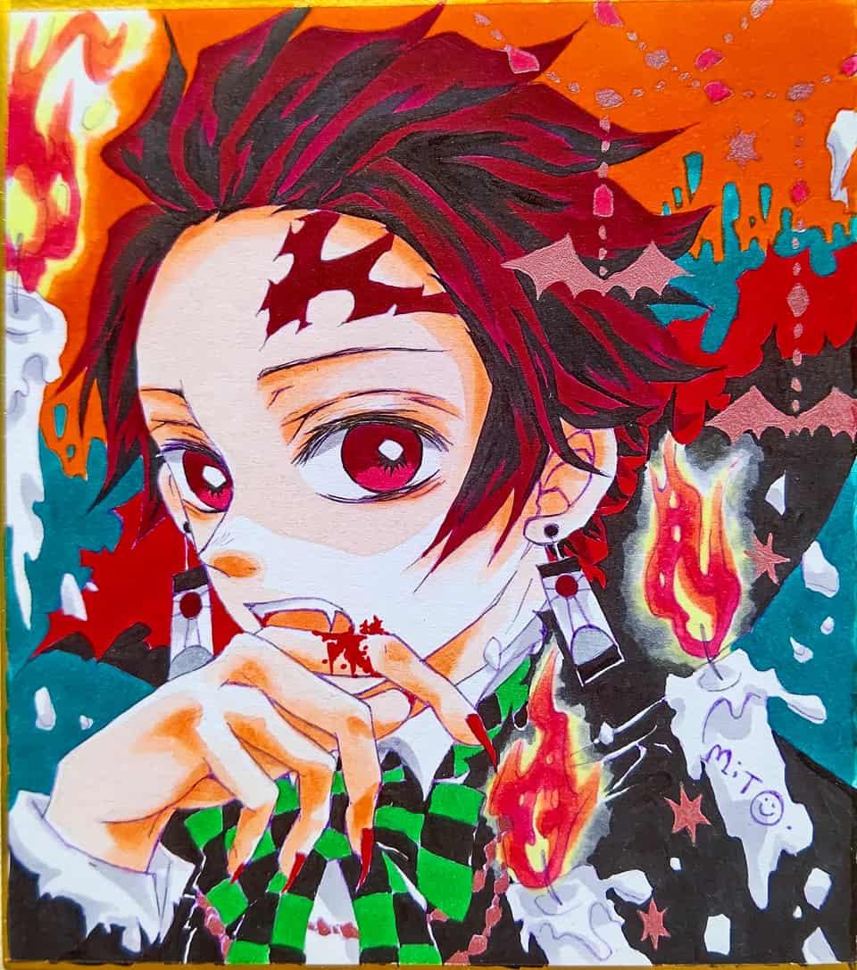 吸血鬼たんじろ。 Illust of ミト コピックイラスト KimetsunoYaiba KamadoTanjirou ハロウィンイラスト