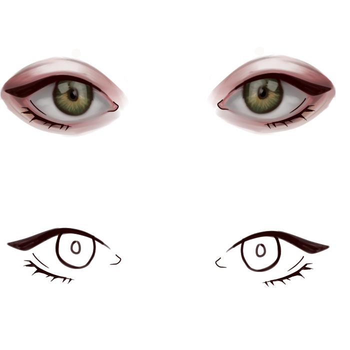 Just Eyes today😐 Illust of Emaan Lens eyes Semirealisim