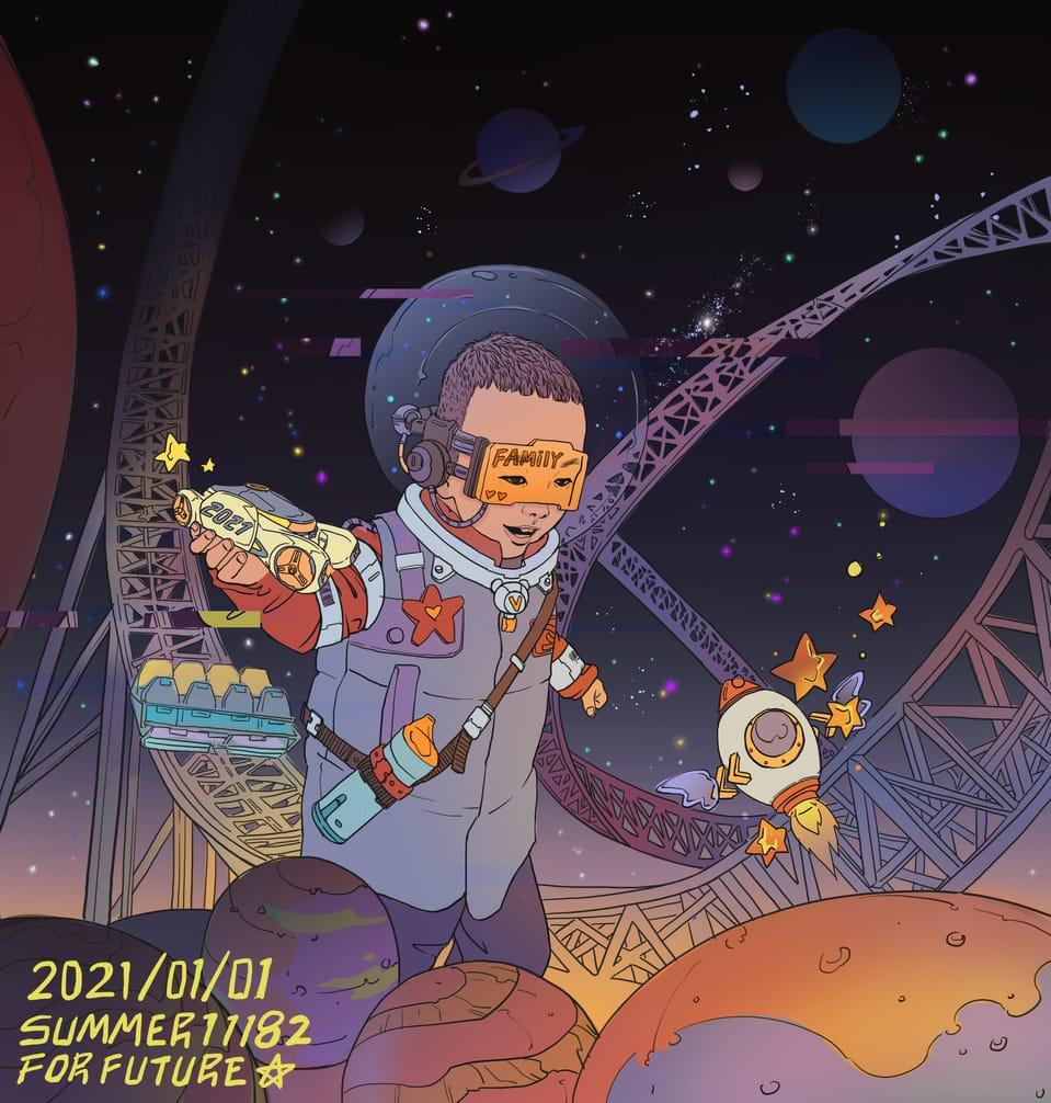 2021冲呀 Illust of summer11182 November2020_Contest:Cyberpunk