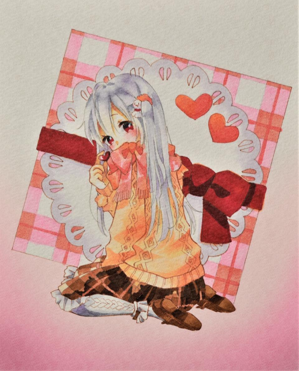 君とバレンタイン Illust of ゆすらうめ Copic girl まぬんちゃん Valentine kawaii アナログ mafumafu ValentinesDay