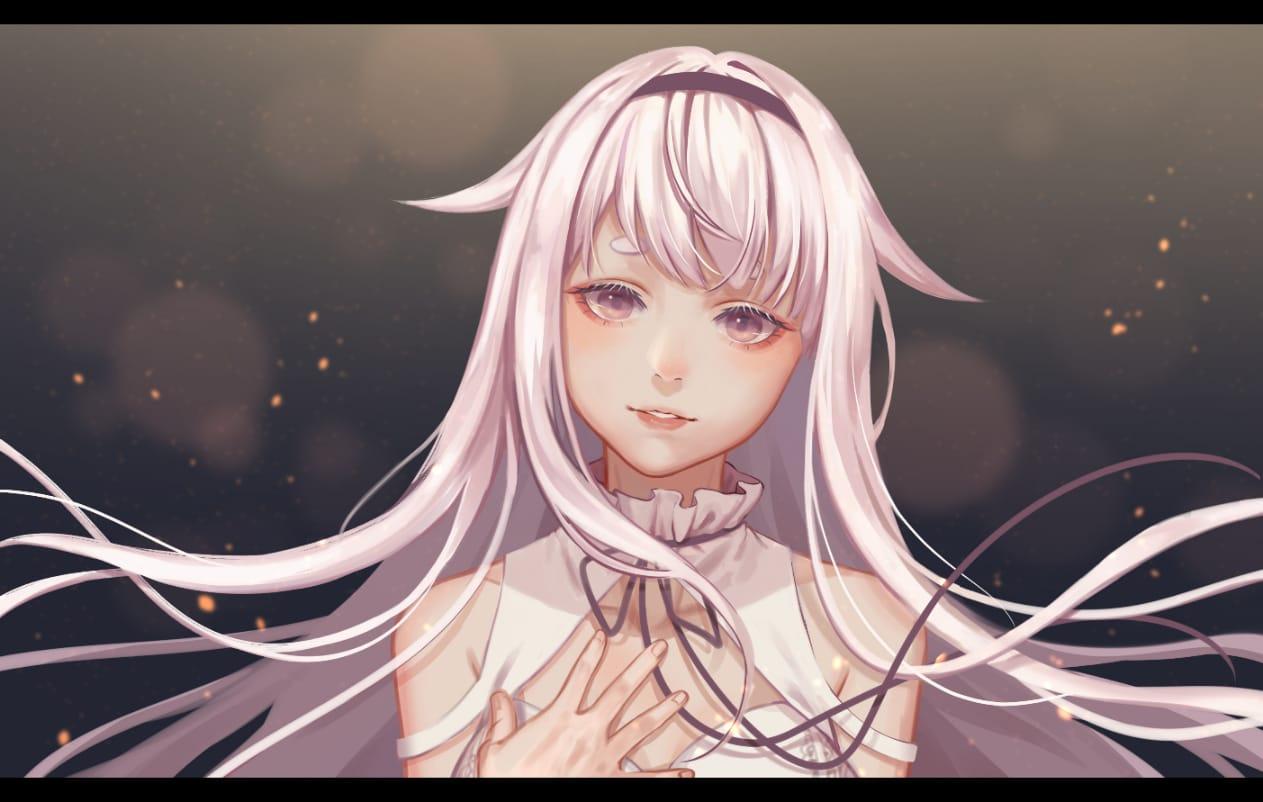 DEAR Illust of Ka²N. ARTstreet_Ranking_Contest September2021_Girl white_hair