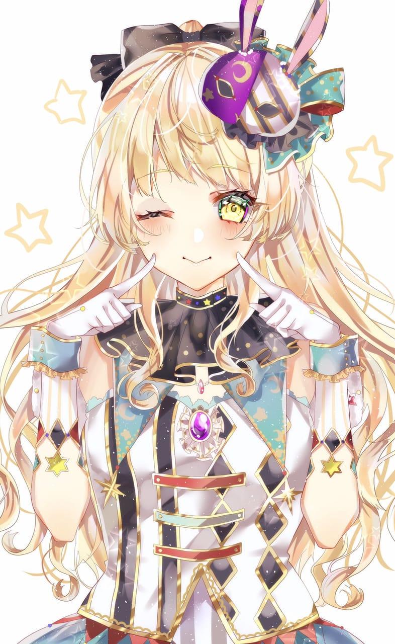弦巻こころ Illust of えびまう kawaii girl BanG_Dream! 弦巻こころ illustration ハロハピ