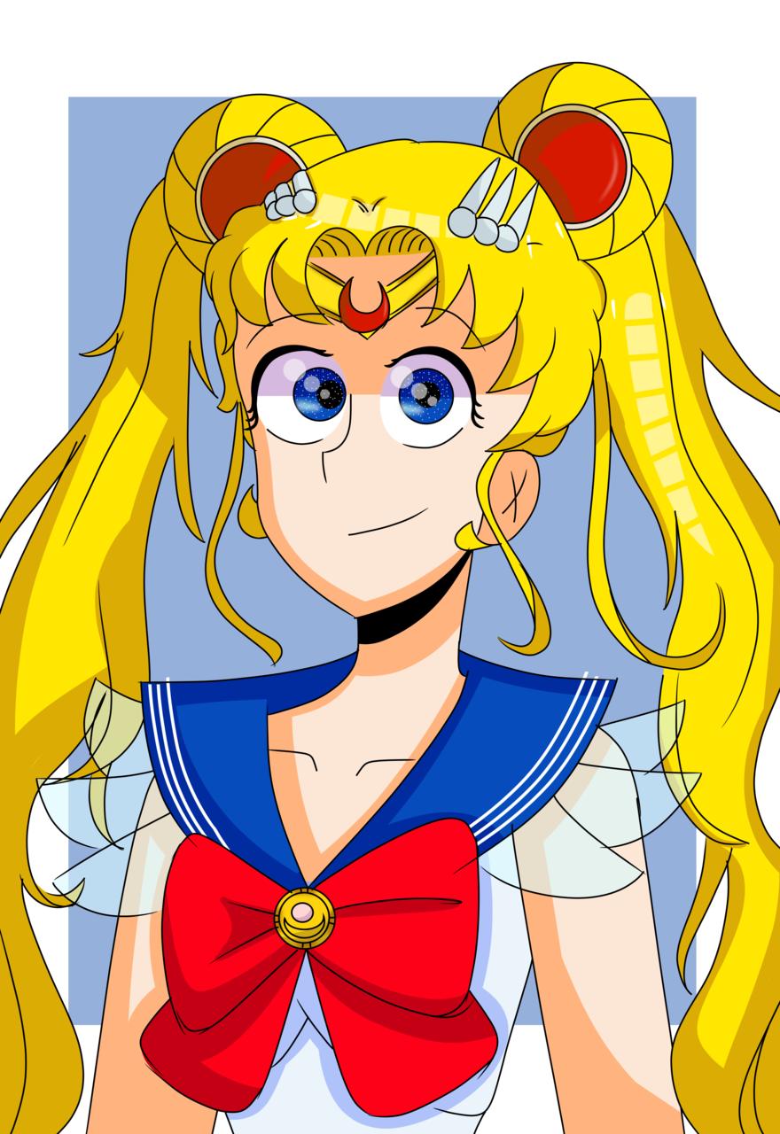 Sailor Moon (no sabia que dibujar c: ) Illust of Asaku uvu uwu