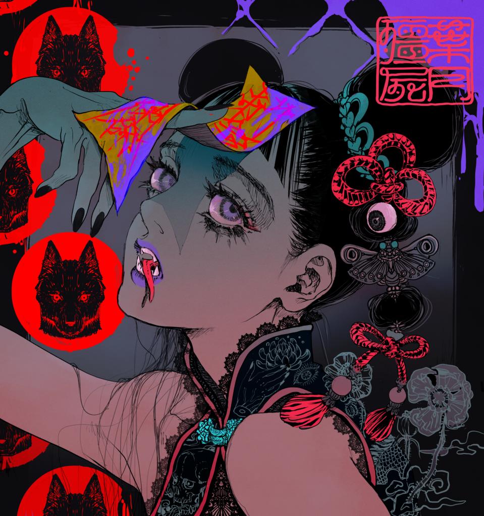 殭屍娘 Illust of anconoe August2020_Contest:Horror gothic