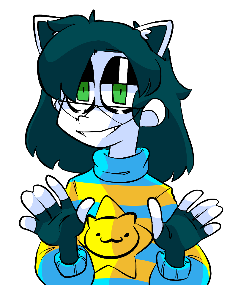 Human Temmie (lineart by Poi) Illust of Djoga medibangpaint Colored Humanized undertale Temmie