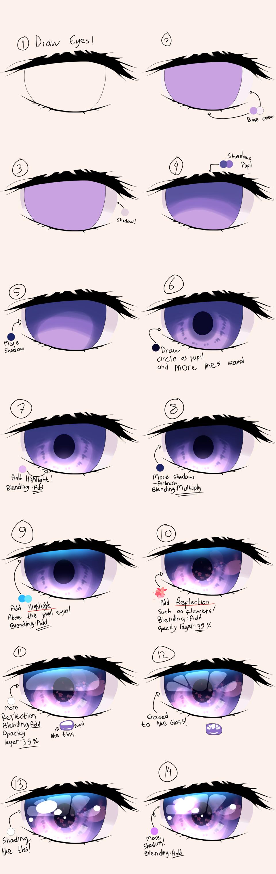 Making Anime Eye Illust of Qiya Art The_Challengers eyes art making tutorial