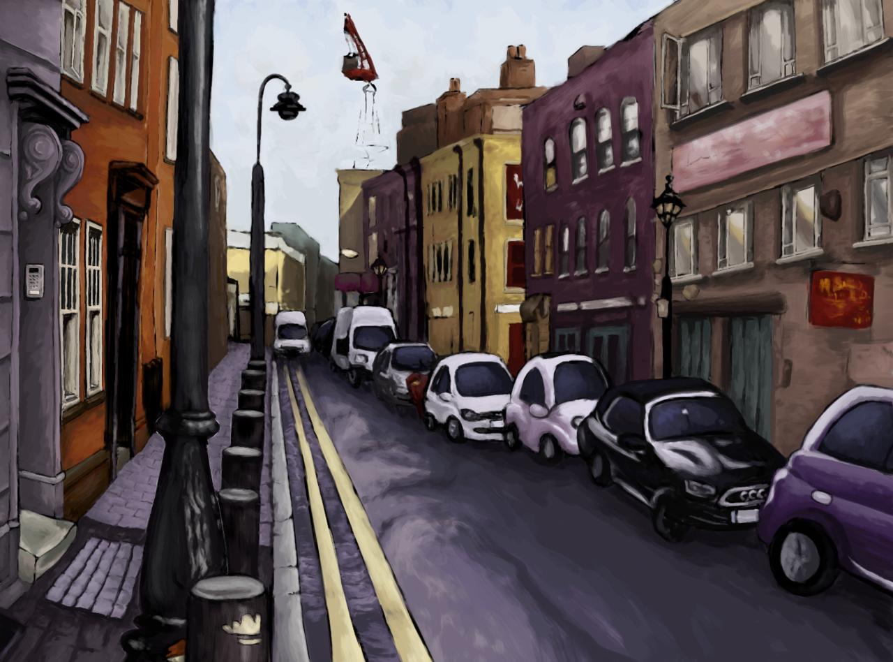 Brick Lane, Shoreditch Illust of Calliope medibangpaint street places travel road city bricklane london