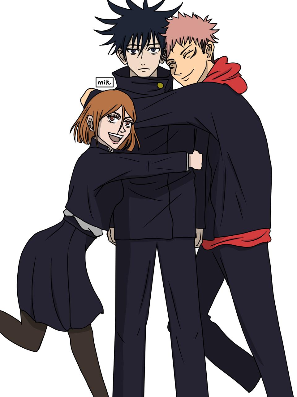 Let's hug Megumi Illust of micaffeinated JujutsuKaisenFanartContest medibangpaint JujutsuKaisen