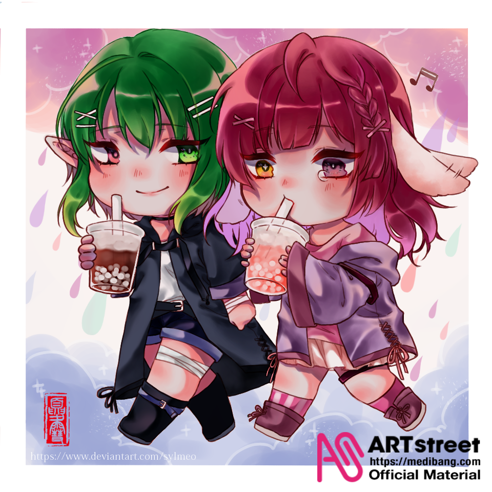 Don't cry, sweeties! Illust of Sylphylia cute character Trace&Draw【Official】 friend digital chibi or oc