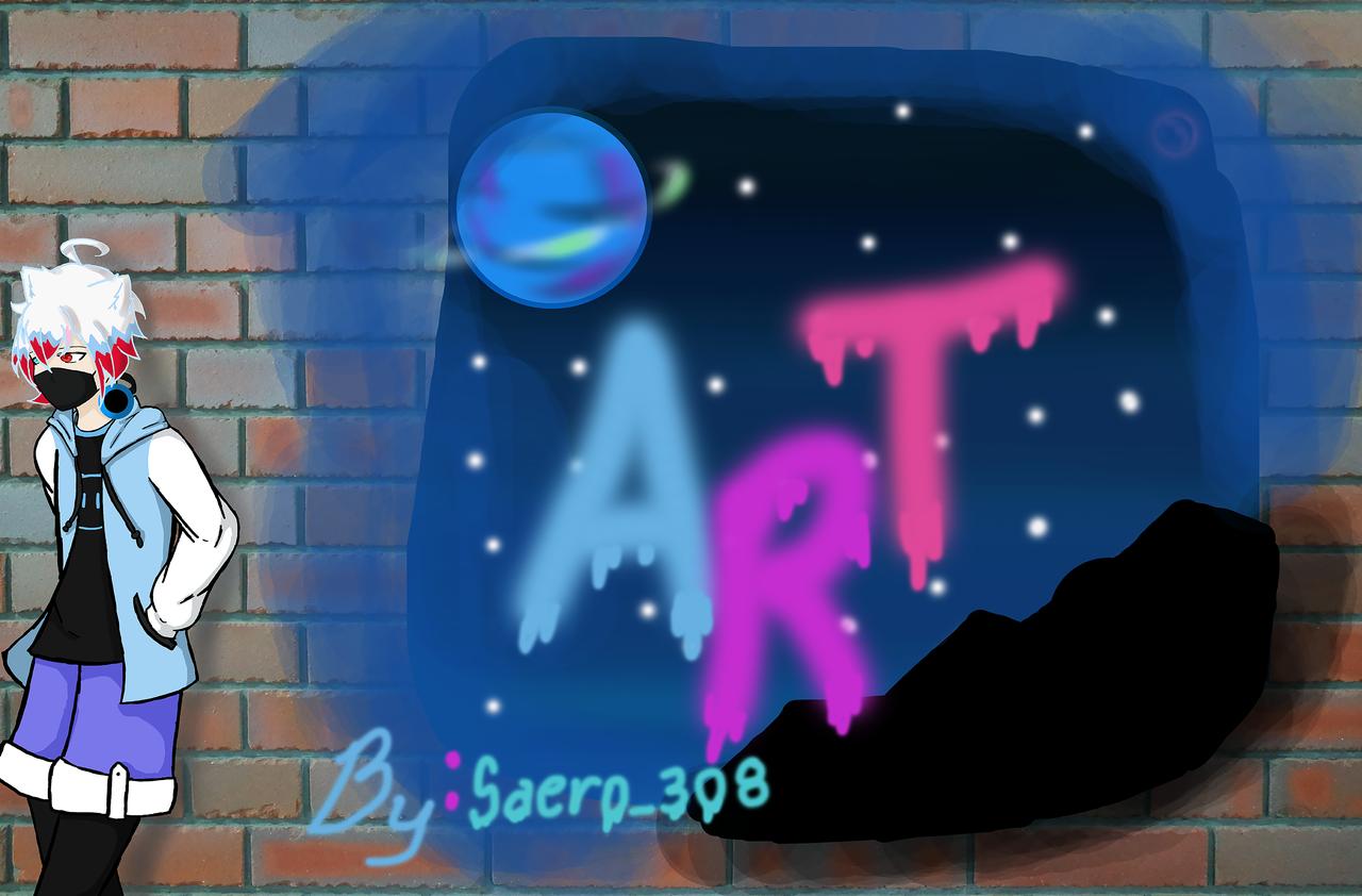 Art Illust of Saero_308 June2020_Contest:Street_Art sketch cat planet art blue spays star