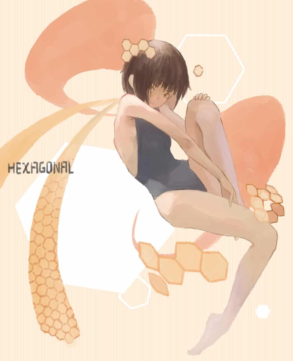 六角形 Illust of OTHERS 六角形 girl 橘色
