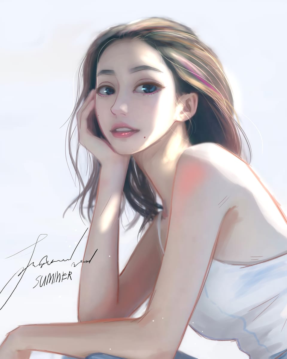Her name is Summer Illust of KarmaSan illustration girl digitalpainting love art drawing animegirl anime