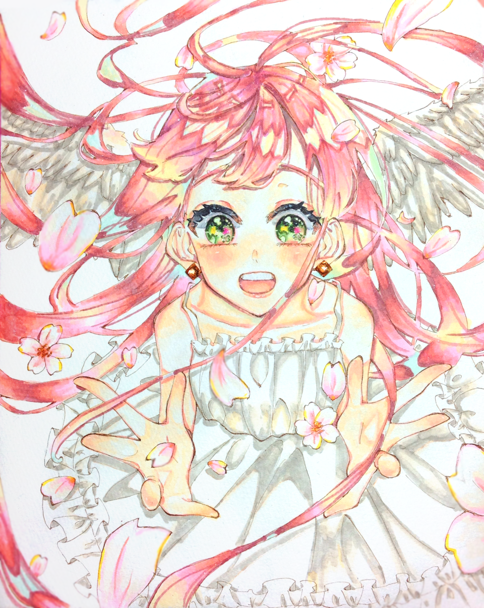 春の天使 Illust of あはちゃ angel Copic