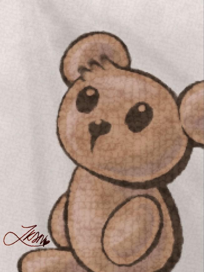 Teddy Bear with Knitting Wool Brush Illust of KirmizithePoN MedibangBrushes digital brush