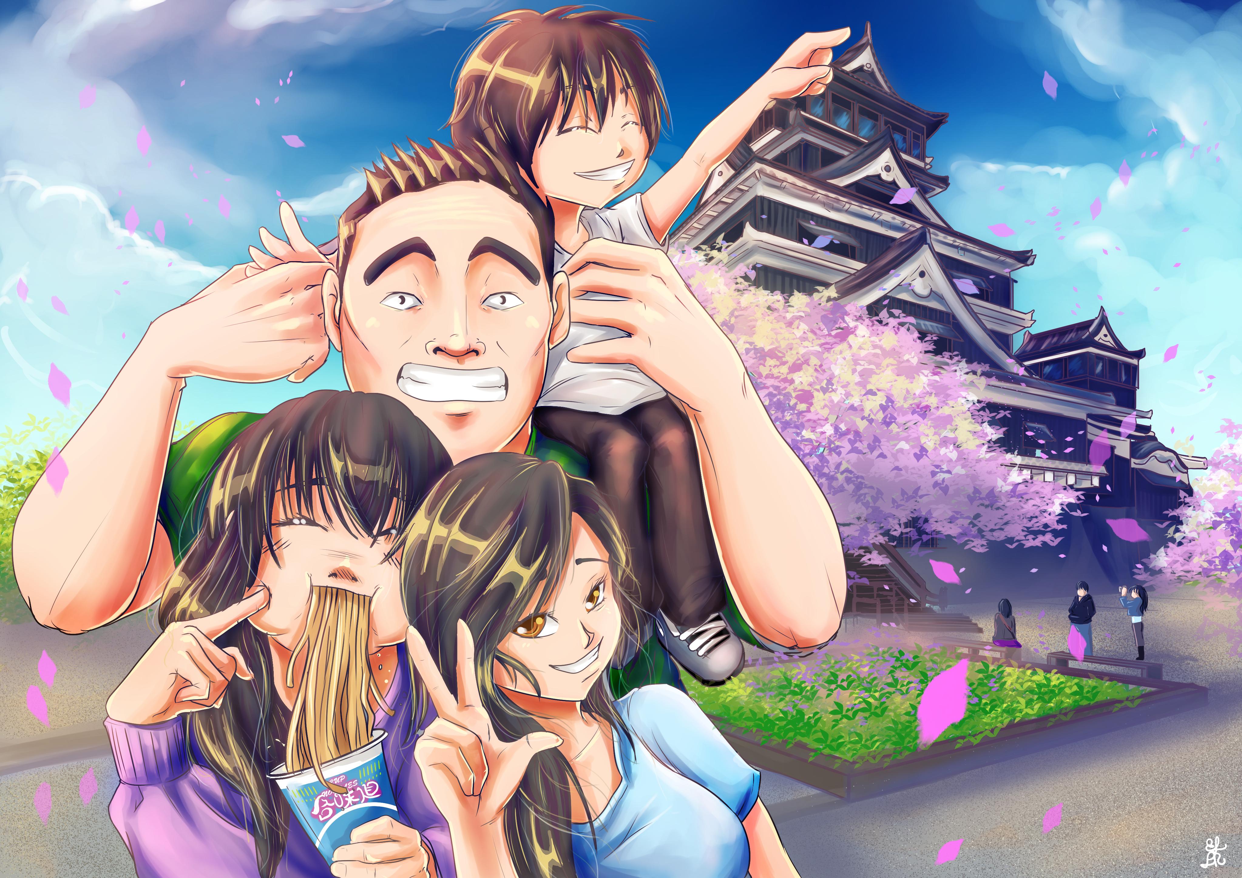 ellr/Visiting Kumamoto with family