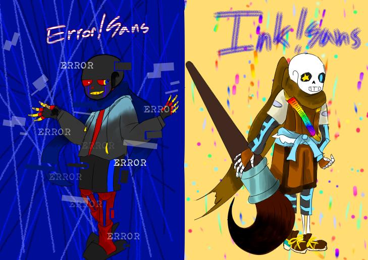 잉크에러 Illust of ☠나이트메어샌즈☠ medibangpaint 에러샌즈 에러테일 잉크샌즈 샌즈 잉크테일 언더벌스