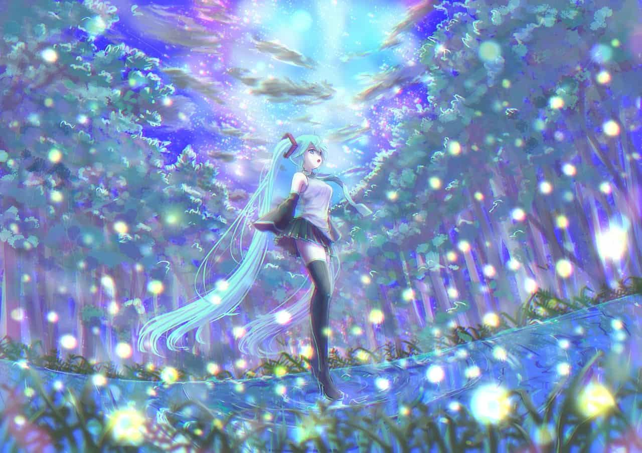 蛍の森 Illust of pepeami YouTube 夜空 蛍