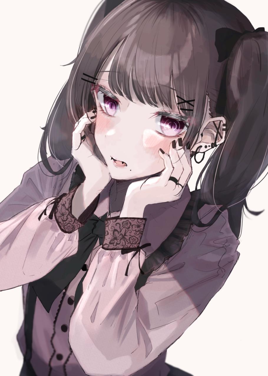 無題 Illust of かにぱん watercolor twin_ponytails アクセサリー kawaii illustration girl 地雷女子 茶髪 oc