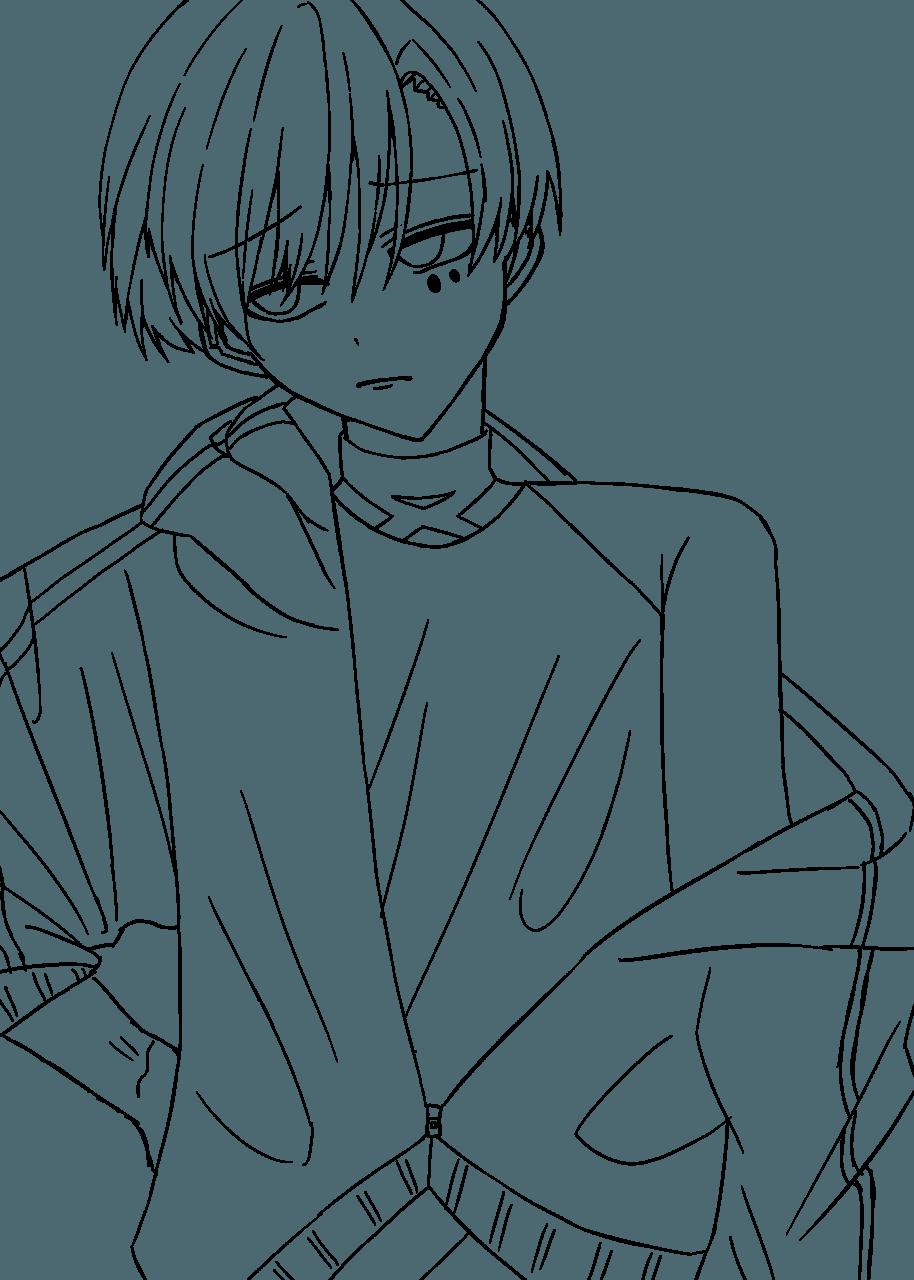 フリー線画 Illust of おみそ#田舎同盟 line_art CLIPSTUDIOPAINT boy illustration おみそのお絵かき広場