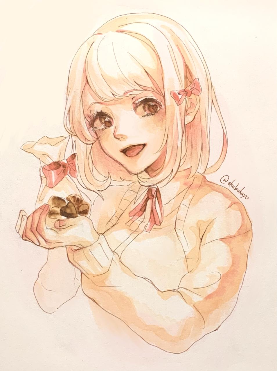 Happy Valentine's Day!! Illust of えくぼかよ original painting Valentine Copic