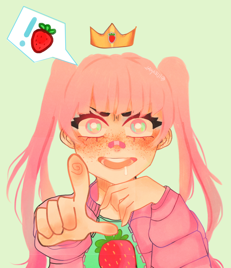 strawberry Illust of !LLEGHAL. animestyle anime animeart animegirl