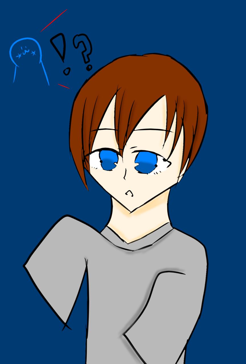 僕は怖い怖いオバケさんだぞぉ~ Illust of ミルクコーヒー#弟子すこ 幼い boy メモリーの遊び場 oc ぶかぶかの服