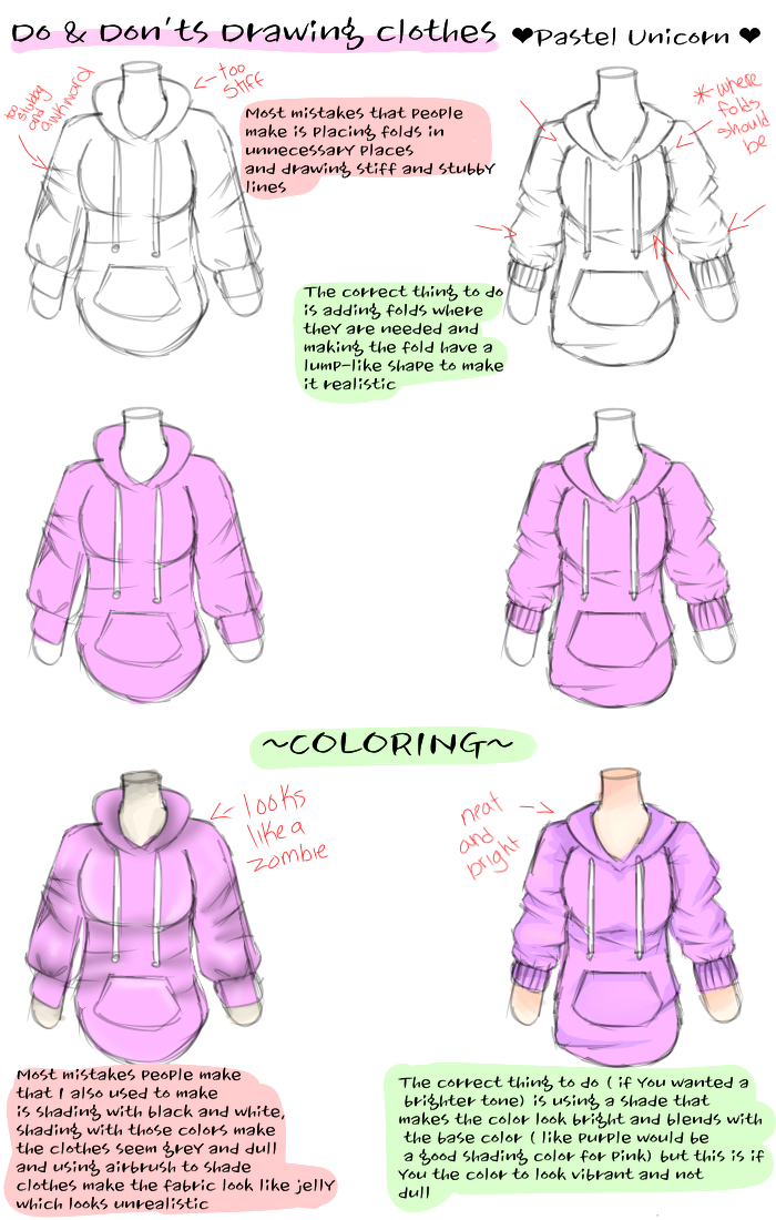 How To Color Clothes 1 Pastel Unicorn Illustrations Art Street
