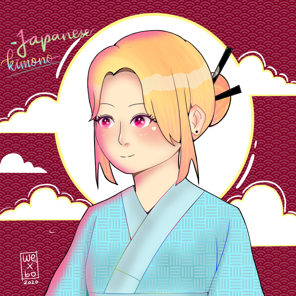 Japanese Kimono Illust of scrarolinewexbo medibangpaint