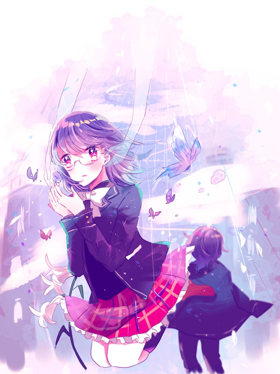 蝶の羽ばたき Illust of すいすい January2021_Contest:OC 創作イラスト girl oc thisartshouldlvlup