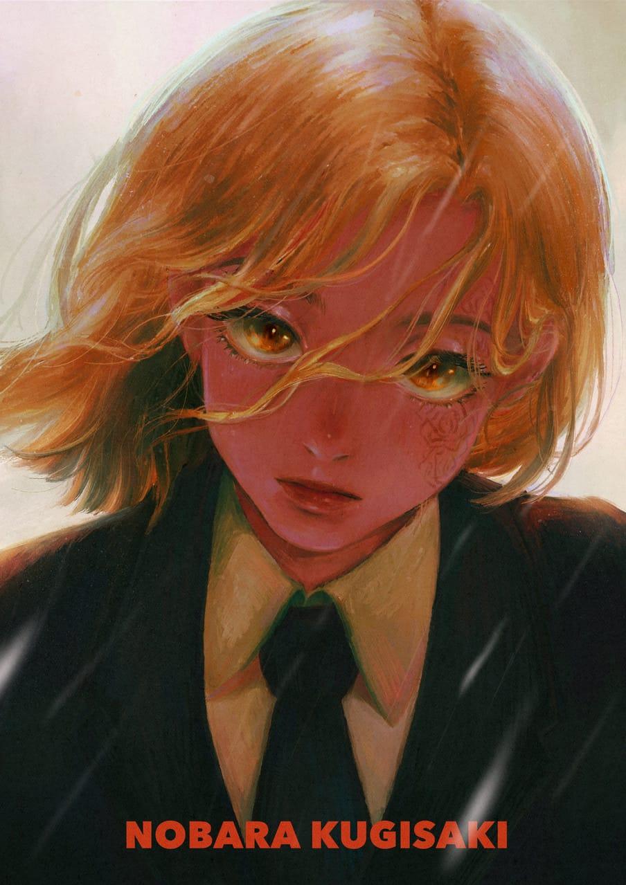 釘崎野薔薇Nobara Kugisaki Illust of JuneLee JujutsuKaisenFanartContest JujutsuKaisen cute Beautiful thisartshouldlvlup
