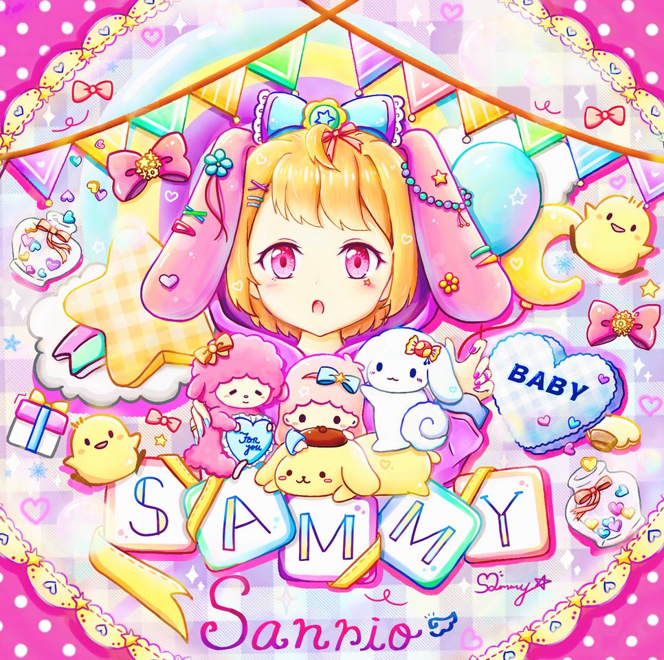 Sanrio melody Illust of Sammy 子子 June2021_Anthropomorphism medibangpaint pink animeart Personification Artwork manga art girl 擬人 anime