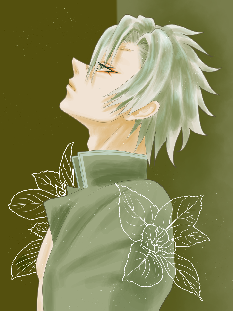 Illust of FJ green fanart KimetsunoYaiba boy ShinazugawaSanemi