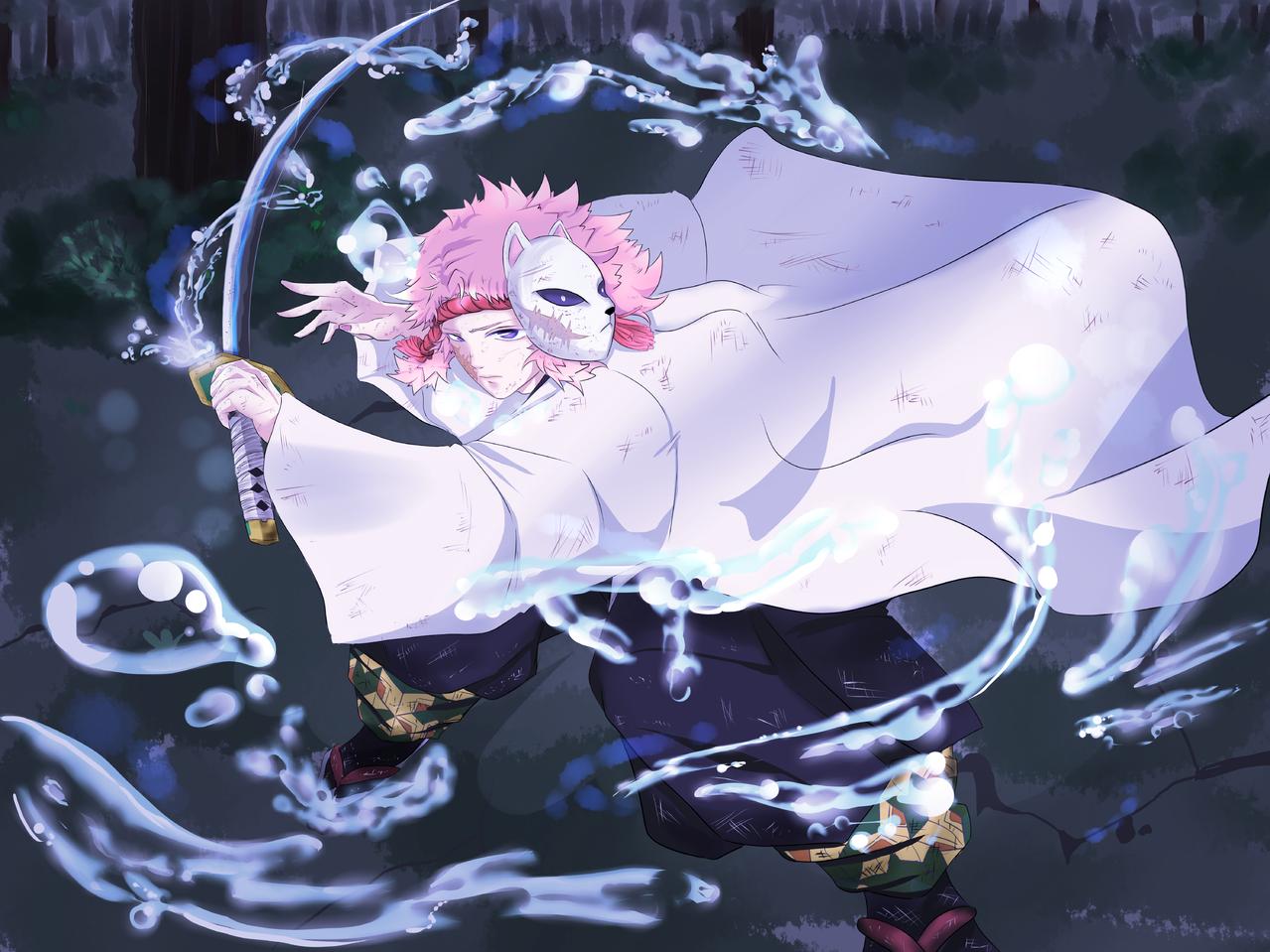 kimetsu no yaiba Illust of seira DemonSlayerFanartContest 錆兎 KimetsunoYaiba FinalSelection sabito