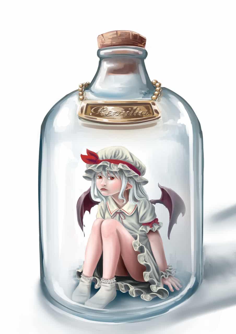 bottle vampire Illust of HARa レミリア Touhou_Project